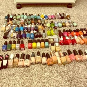 Lot of nail polishes Chanel kl polish opi ETC